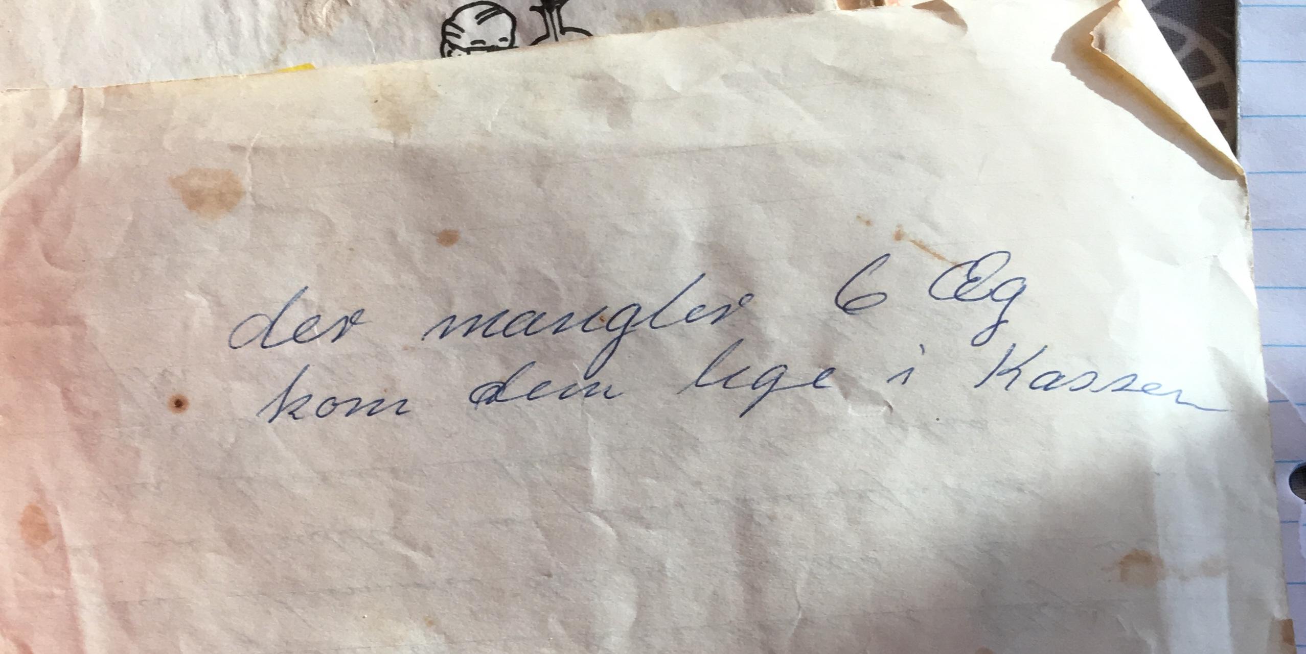 Håndskrevne opskrifter