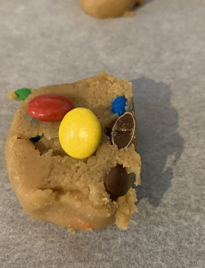 Cookies med m&m's